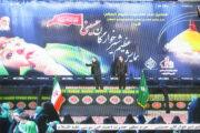 چاپ بنر همایش شرخوارگان حسینی در شاهچراغ شیراز در ابعاد ۵ در۱۲ متر