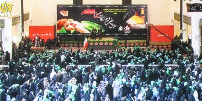 چاپ بنر مراسم شیرخوارگان حسینی در شیراز عرض ۵ متر